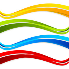 Set of wavy colorful banners