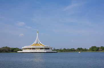 Dome in suan luang rama 9 blue sky