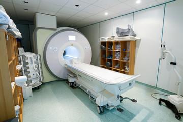Magnetic resonance spectroscopy machine in hospital laboratory.
