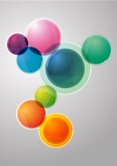 abstract background made colorful from circles