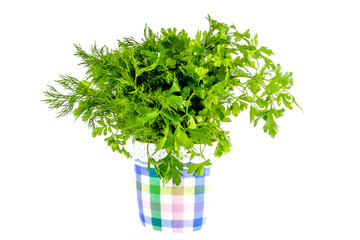 green parsley and dill seasoning
