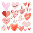 Graphic heart set