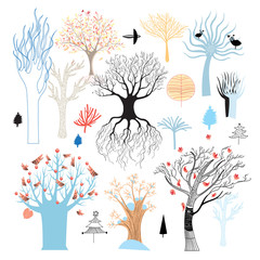 Graphic set of trees