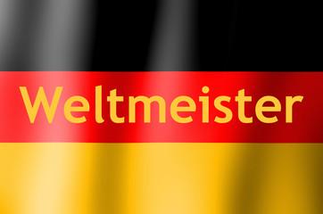 Flagge: Weltmeister Deutschland