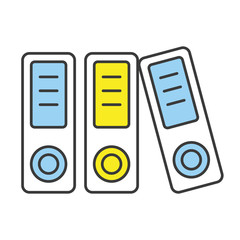 Vector Flat Line Design Concept Binders Icon