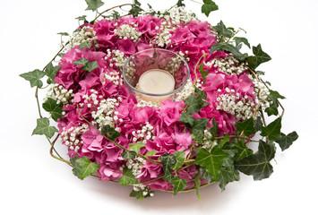 Blütenkranz mit Hotensien