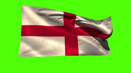 England national flag blowing in the breeze