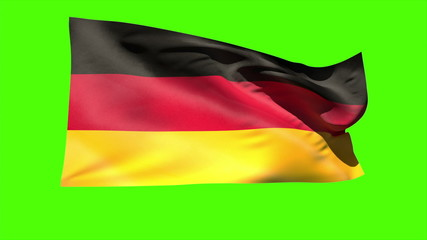 German national flag blowing in the breeze