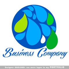 water, clean, blue, globe, logo, business, life, technology
