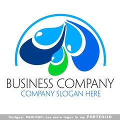 water, clean, globe, logo, buildings, illustrations, sign