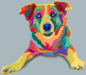 dog pop-art