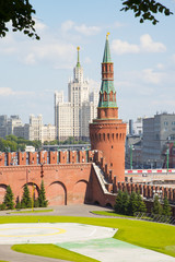 Towers Moscow Kremlin in solar weather