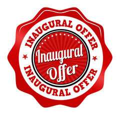 Inaugural offer sticker, icon,stamp or label