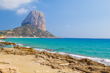 National Park Penyal d'Ifac mountain view at Calpe