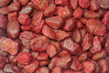 red stones as background