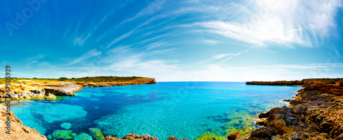 Panorama of the bay with rocky shores, Mallorca, Spain - 67505939