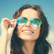 canvas print picture - woman in sunglasses