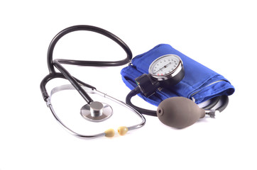 Stethoscope with tonometer