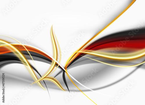abstrakcja złoto-ogniste fale - 67506524
