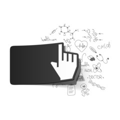 Drawing medical formulas: hand