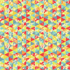 Vintage Geometric Triangles Pattern