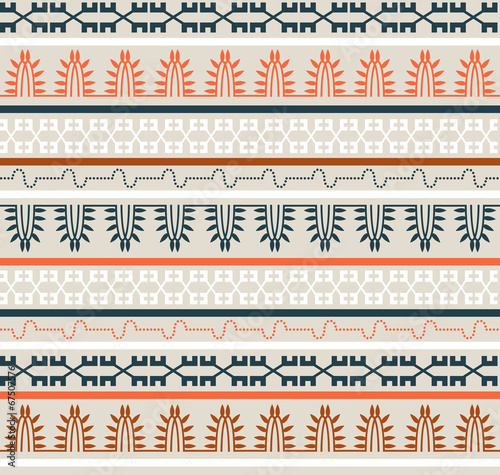 Seamless Ethnic Elements Pattern - 67507576