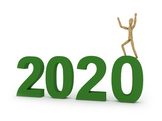 2020: figure with year