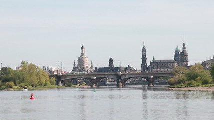 Old Dresden and Elbe River