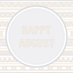 Happy August background1