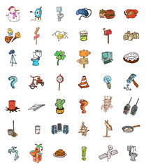 cartoon objects set