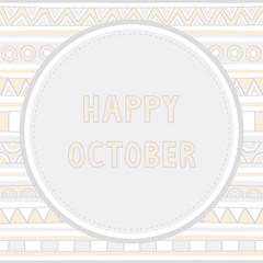 Happy October background1