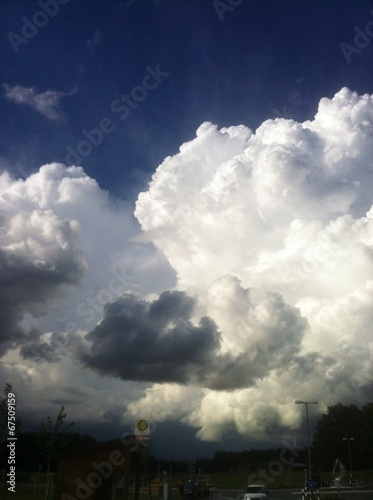 canvas print picture Gewitterwolke