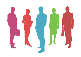 business people vector background