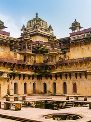Detail of Jahangir Mahal, the Orchha Palace, India