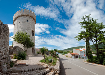Panoramic view of Cres tower in Croatia