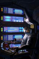 Astronaut dead inside a spaceship
