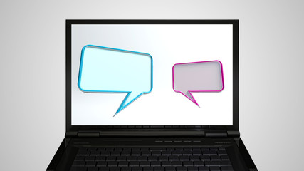laptop Monitor display conversation