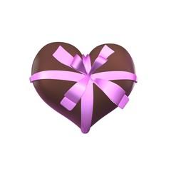 Chocolade hart met strik