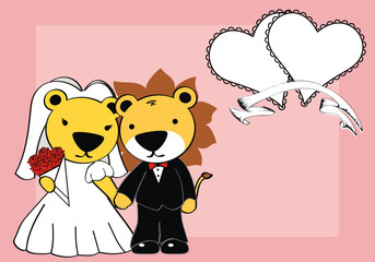 lion married cartoon background