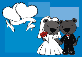 panther married cartoon background