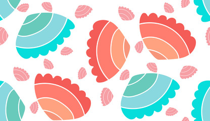 pattern shell vector seamless  sea