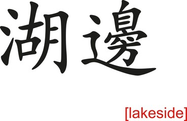 Chinese Sign for lakeside