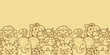 Wild animals vector horizontal seamless pattern background