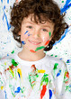 Funny child with painted face