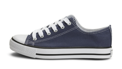 Blue Canvas Shoe Side