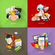 Business concepts, 3d vector icons