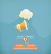Marketing and promotion, minimalistic vector background