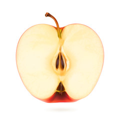 Half apple, vector illustration