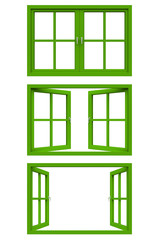 green window frame