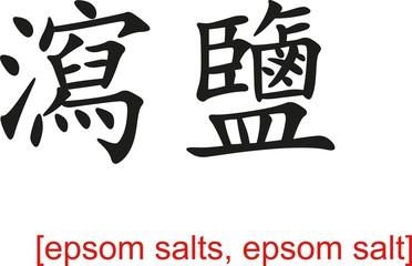 Chinese Sign for epsom salts, epsom salt